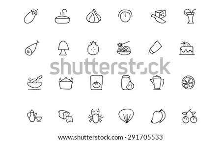 Food Hand Drawn Outline Vector Icons 10