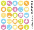 food icons for restaurant, dinner, items and others - stock vector