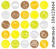 food icons for restaurant, menu, dining and others - stock vector