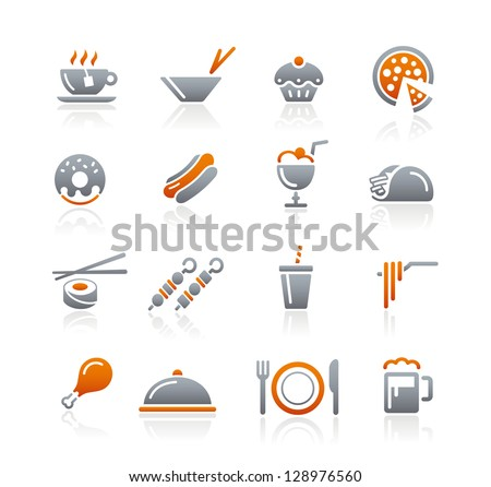 Food Icons - 2 // Graphite Series - stock vector