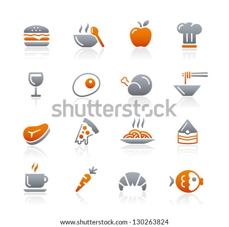 Food Icons - 1 // Graphite Series - stock vector