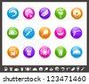 Food Icons - Set 2 of 2 // Rainbow Series - stock vector