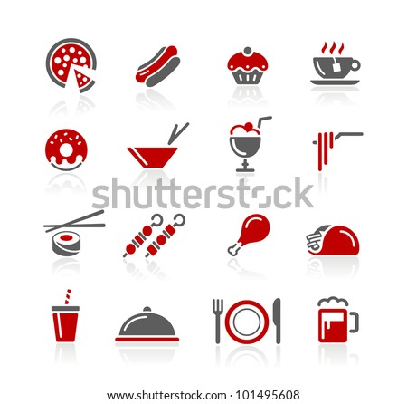Food Icons / Set 2 of 2 // Redico Series - stock vector