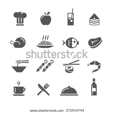 Food Icons - 2 // Utility Series - stock vector