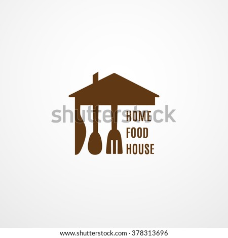 Home Kitchen Logo food logo template home food house stock vector 378313696