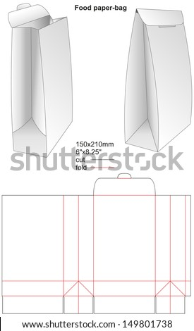 Food paper-bag - stock vector