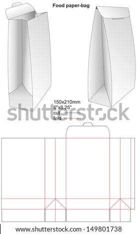 paper bag template illustrator images galleries with a bite. Black Bedroom Furniture Sets. Home Design Ideas