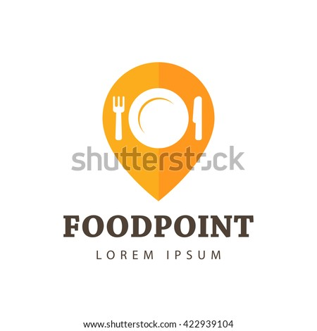 Food Point Vector Icon, Logo, Sign, Symbol Template - stock vector