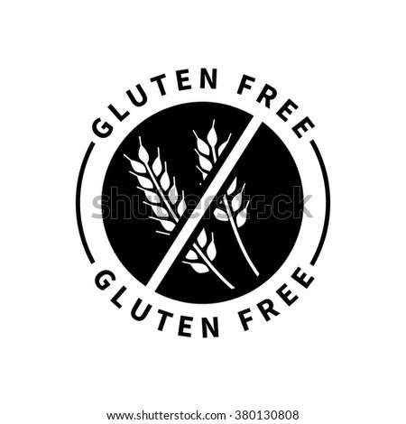 Food product badge  - Gluten free - stock vector