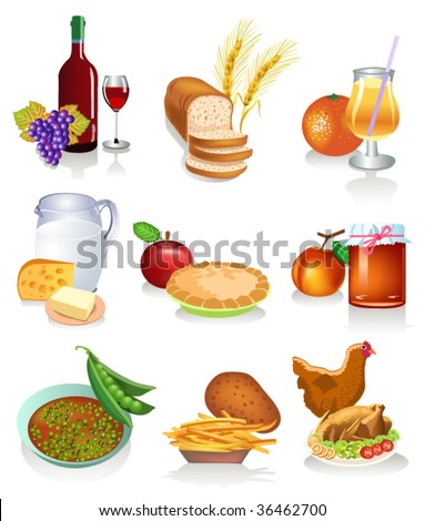 food products - stock vector