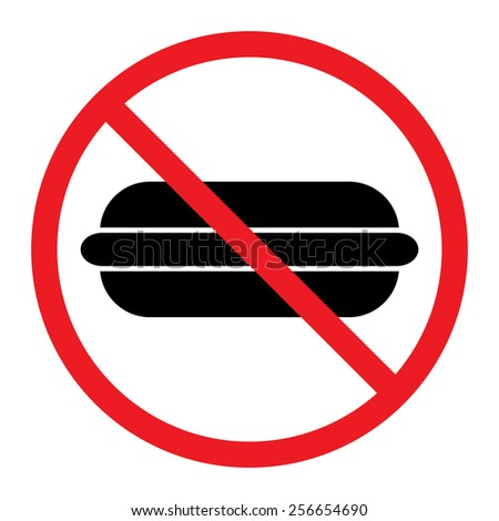 Food Prohibition Sign