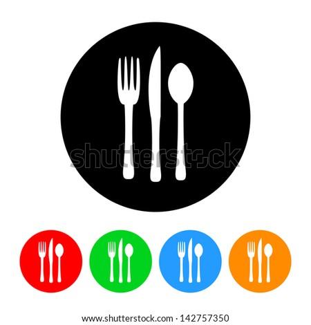 Food & Restaurant Icon - stock vector