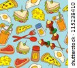 food seamless pattern suitable for wrapping paper - stock vector