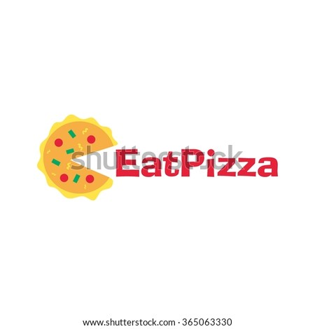 Food service vector logo. Eat and Healthy Logo. Pizza restaurant logo. design template - stock vector