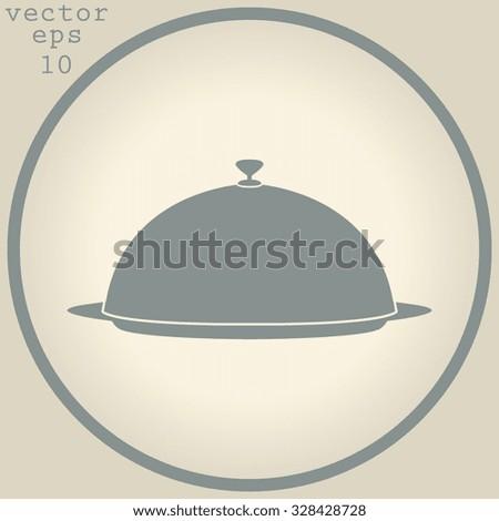 Food serving tray platter  - stock vector