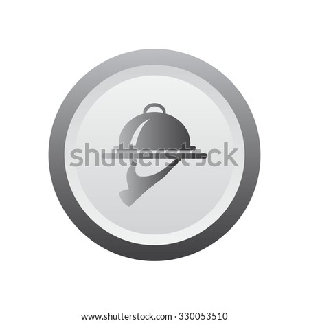 Food Serving Tray Platter. black icon. - stock vector