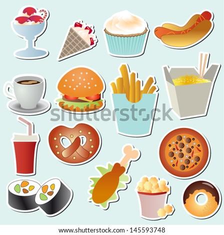 food set vector - stock vector