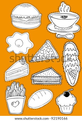 Food Sticker Set