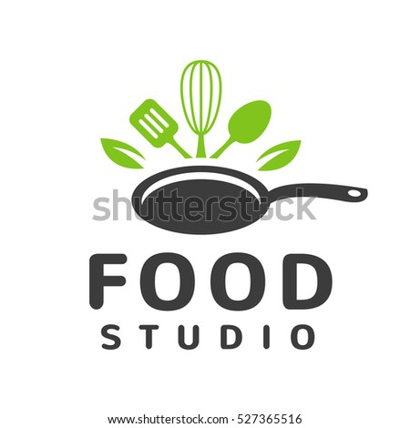 Restaurant Kitchen Toolste food studio vector logo concept kitchen stock vector 527365516