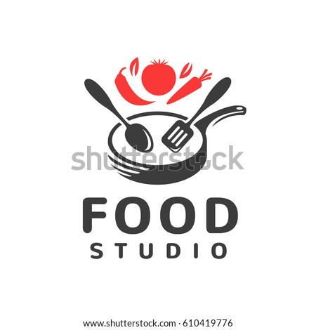 kitchen logo design food studio vector logo kitchen tools เวกเตอร สต อก 2247