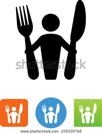 Food symbol for download. Vector icons for video, mobile apps, Web sites and print projects. - stock vector