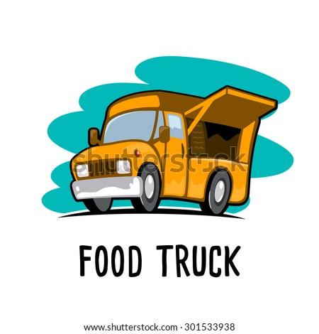 food truck - stock vector