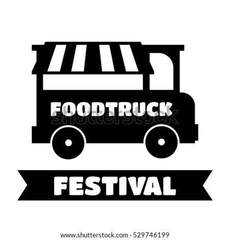 Food Truck Festival Emblems And Logos Vector