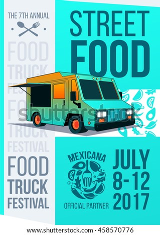 Food Truck Festival Food Brochure Vector Stock Vector Royalty Free - Food truck flyer template