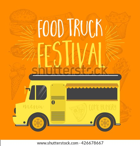 Street party invitation stock photos royalty free images for Food truck menu design
