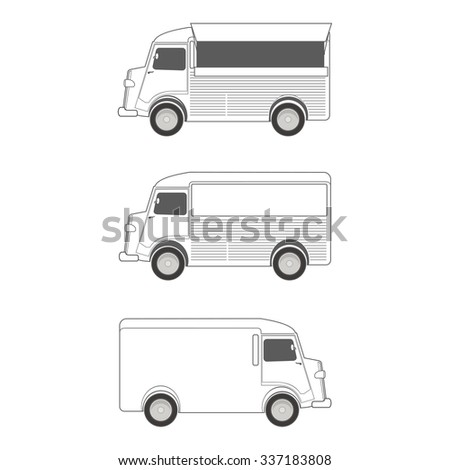 Food Truck  Template  - stock vector