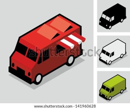 Food van - stock vector