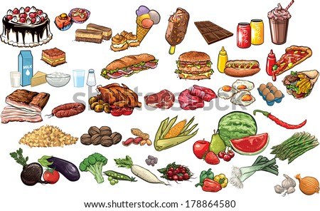 Food vector collection.