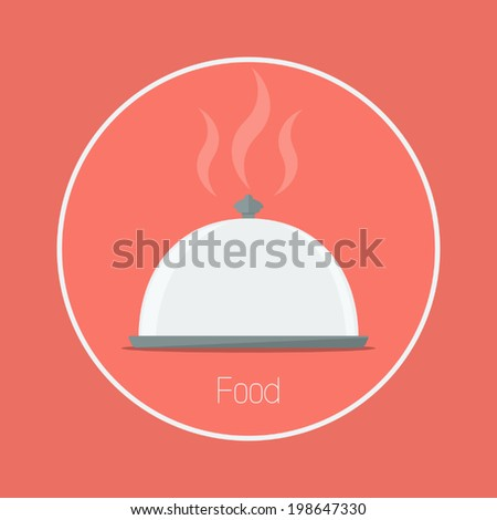Food : Vector food cover icon flat design - stock vector