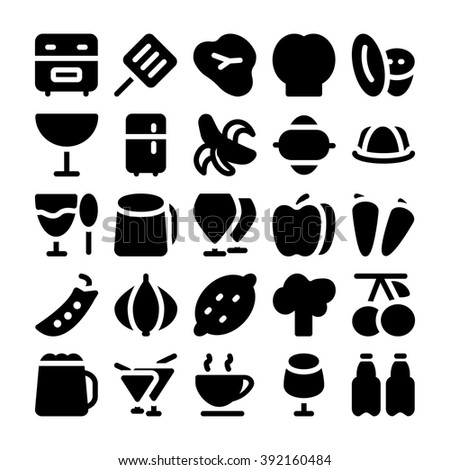Food Vector Icons 7 - stock vector