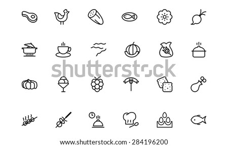 Food Vector Outline Icons 7