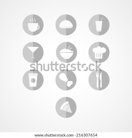 Food  web icon on white background - stock vector