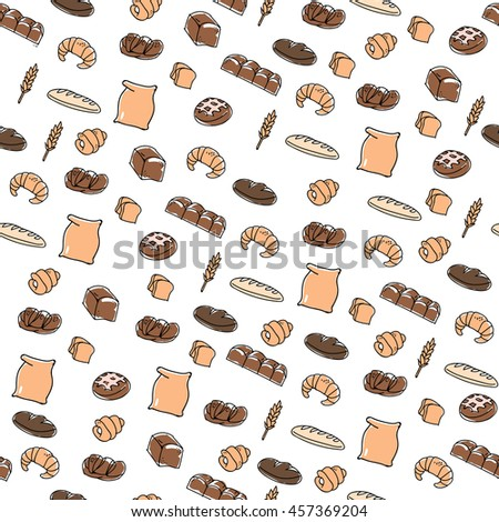 Foods doodles hand drawn sketchy vector symbols and objects