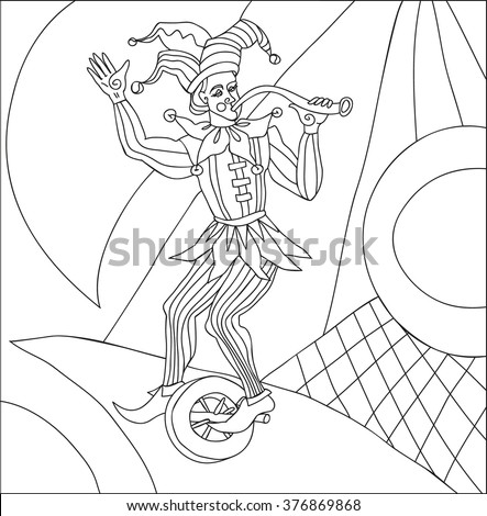 fool painted by hand - stock vector
