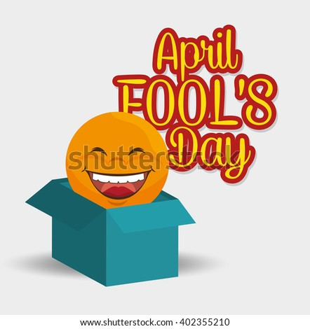fools day design  - stock vector