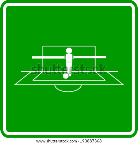 foosball goalkeeper sign - stock vector