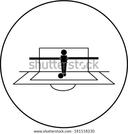 foosball goalkeeper symbol - stock vector