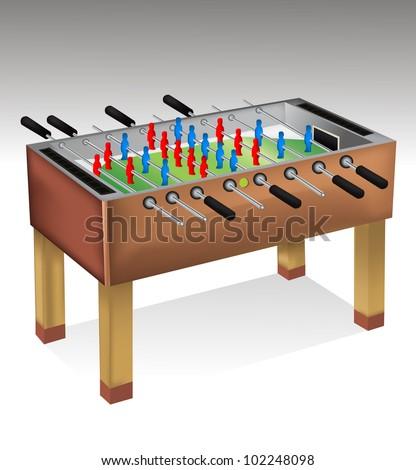 Foosball table - stock vector