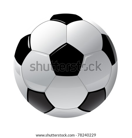 foot ball isolated on the white - stock vector