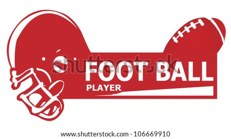 foot ball player american - stock vector