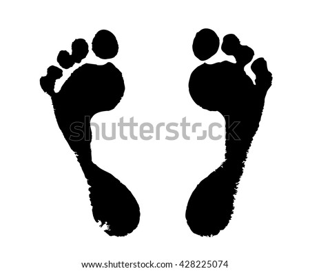 foot silhouette on a white background