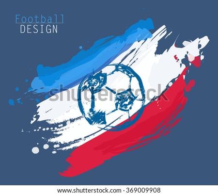 Football abstract design - stock vector
