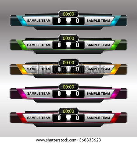 Football Soccer Scoreboard Template Vector Illustration Stock Photo
