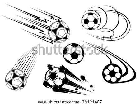 Football and soccer symbols, mascots and emblems for sports design. Jpeg version also available in gallery - stock vector