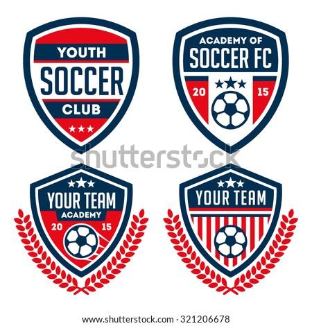 Football badge / logo set - stock vector