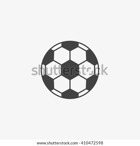 Football ball Icon in trendy flat style isolated on grey background. Soccer ball pictogram. Football symbol for your web site design, logo, app, UI. Vector illustration, EPS10. - stock vector